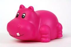 Hippopotamus en plastique rose Images libres de droits
