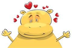 Hippopotamus felice nell'amore Immagine Stock Libera da Diritti