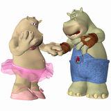 Hippopotamus in Love Stock Photography