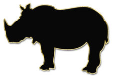 Hippopotamus silhouette Stock Photo