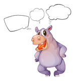 A hippopotamus thinking Stock Photo