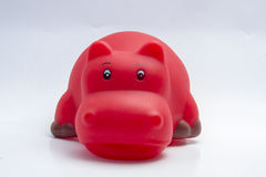 Hippopotamus toy for water play. Hippopotamus for beauty water play Stock Images
