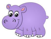 Hippopotamus uno del rinoceronte aislado Imagenes de archivo