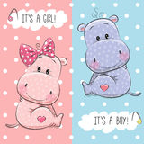 Hippos boy and girl Royalty Free Stock Photography