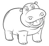 Hippos Cartoon Royalty Free Stock Photos