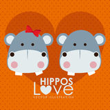 Hippos design Stock Photos