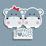 Hippos design Stock Photo