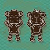Hippos design Stock Image