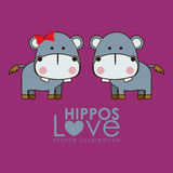 Hippos design Royalty Free Stock Image