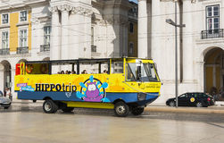 Hippotrip bus in Lissabon Stock Photos