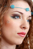 Hippy art make up Stock Photography