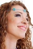 Hippy art make up smiling Royalty Free Stock Image