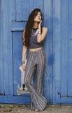 Hippy blu Fotografie Stock