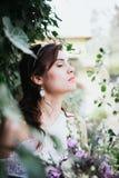 Hippy Boheemse jonge bruid Royalty-vrije Stock Foto's
