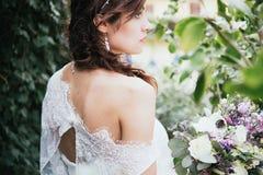 Hippy Boheemse jonge bruid Royalty-vrije Stock Afbeeldingen