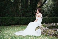 Hippy Boheemse jonge bruid Royalty-vrije Stock Foto
