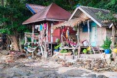 Hippy bungalows. Thailand, Kho Phayam Island 10.12.2014 Royalty Free Stock Image