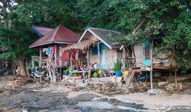 Hippy bungalows. Thailand, Kho Phayam Island 10.12.2014 Royalty Free Stock Images