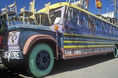 A hippy bus in San Francisco, California Stock Photos