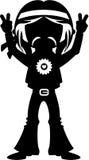 Hippy di flower power Immagini Stock Libere da Diritti