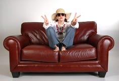 hippy för 5 flicka Royaltyfri Fotografi