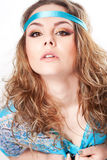Hippy girl stock photo