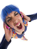 Headphones hippy fashion Stock Images