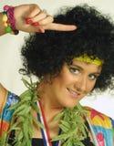 hippy kvinna royaltyfri bild