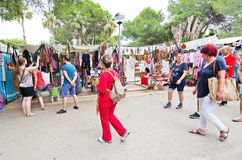 Hippy Market Es Canar Ibiza Royalty Free Stock Photography
