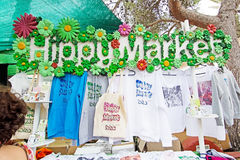 Hippy Market fashion souvenirs Stock Image