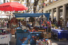 Hippy market of Ibiza. People working in a Hippy market of Ibiza Royalty Free Stock Photography