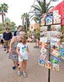 Hippy Market postcards Es Canar Ibiza Stock Photos