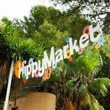 Ibiza Hippy Market sign Royalty Free Stock Images