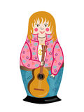Hippy. Nesting doll. Hippy.   Nesting doll on a white background Royalty Free Stock Photography