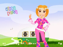 Hippy party. Funny illustration of hippy party vector illustration