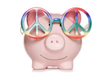 Hippy piggy bank cut out Stock Images
