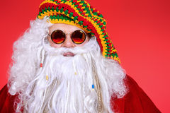 Hippy santa Stock Photo