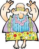 Hippy sorridente anziano Immagine Stock Libera da Diritti