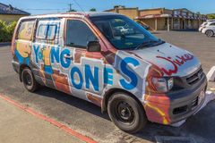 Hippy Van Young Ones immagine stock libera da diritti