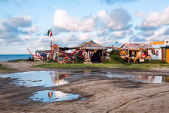 Hippy village Cabo Polonio, Uruguay Royalty Free Stock Photography