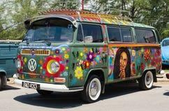Hippy Volkswagen Kombi Fotografie Stock
