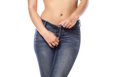 Hips in jeans Royalty Free Stock Photography