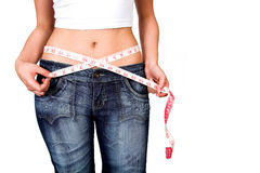Hips - losing weight series Stock Photos