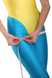 Hips measurement royalty free stock photography