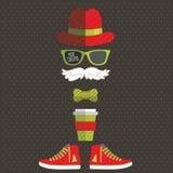 Hipster Άγιος Βασίλης Στοκ Εικόνα