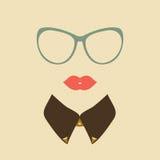 Hipster    κυρία Στοκ Εικόνες