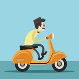 hipster οδηγώντας μηχανικό δίκυκλο ατόμων στοκ εικόνες με δικαίωμα ελεύθερης χρήσης