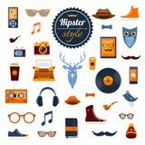 Στοιχεία Hipster καθορισμένα Στοκ Εικόνες