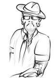 hipster illustrazione vettoriale