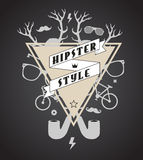 Hipster abstract illustration Stock Photos